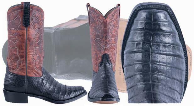 Best Men's Cowboy Boots - Rios Mercedes Black Caiman Belly Boots