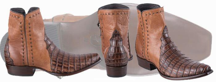 Best Men's Cowboy Boots - Stallion Boots Cognac Caiman Zorro Boots