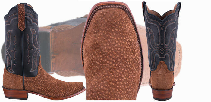 Carpincho Cowboy Boots - RIOS OF MERCEDES MEN'S RUST CARPINCHO COWBOY BOOTS