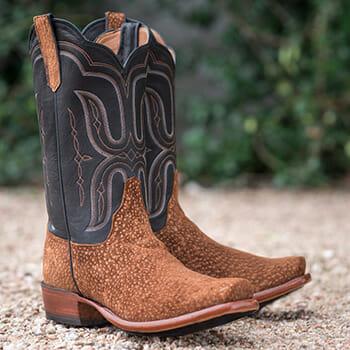 Carpincho Cowboy Boots - A Pair Of Carpincho Cowboy Boots