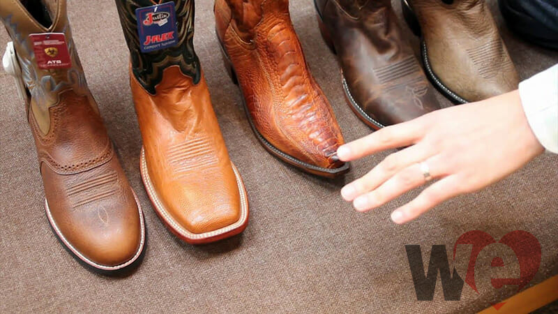 Different Cowboy Boot Toe Types Variety