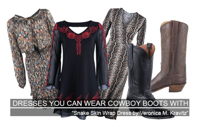 Dresses You Can Wear Cowboy Boots With Featured Image