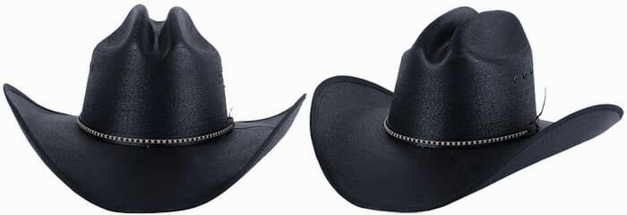 Jason Aldean Resistol Cowboy Hats - Black Asphalt Palm Cowboy Hat