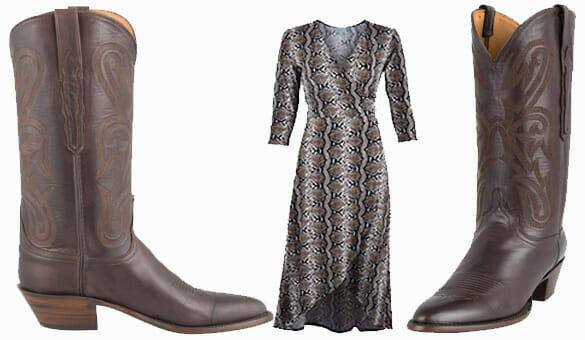 Dresses You Can Wear With Cowboy Boots - LUCCHESE WOMEN'S CHOCOLATE RANCH HAND BOOTS