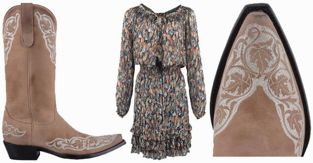 Dresses You Can Wear With Cowboy Boots - Old Gringo Bone Viridiana Women's Cowboy Boots