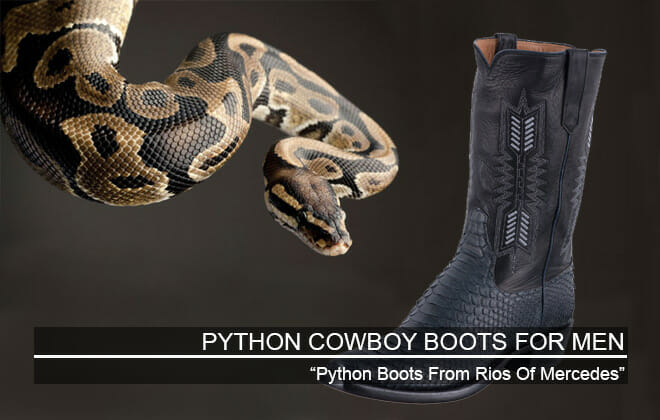 Python Cowboy Boots For Men Featured Image