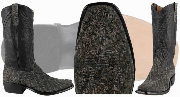 Square Toe Cowboy Boots - RIOS OF MERCEDES MEN'S GRANITE SAFARI SQUARE TOED ELEPHANT BOOTS
