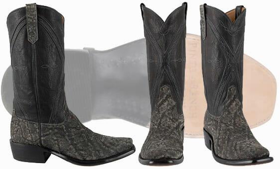 Real Elephant Skin Boots - RIOS OF MERCEDES MEN'S GRANITE SAFARI ELEPHANT BOOTS