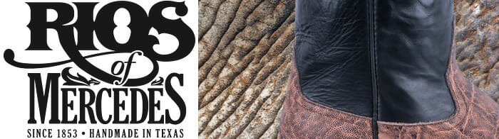 Real Elephant Skin Boots - Rios Of Mercedes Elephant Skin boots