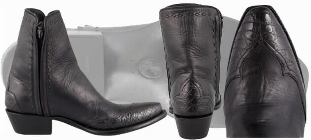 Alligator Cowboy Boots Sale - STALLION MEN'S ZORRO BLACK GATOR ANKLE BOOTS