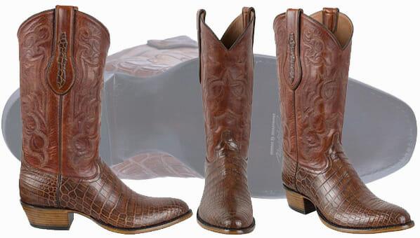 Tony Lama Boots Men - Tony Lama Signature Series Men's Chasi Brown Nile Crocodile Belly Boots