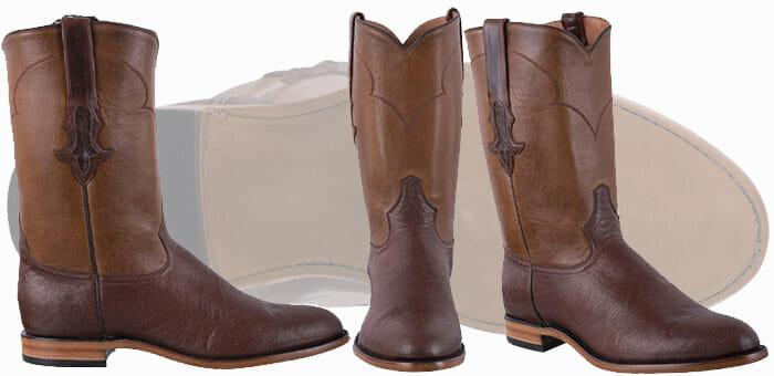 Tony Lama Boots Men - TONY LAMA SIGNATURE SERIES MEN'S KANGO TOBACCO SMOOTH OSTRICH ROPER BOOTS
