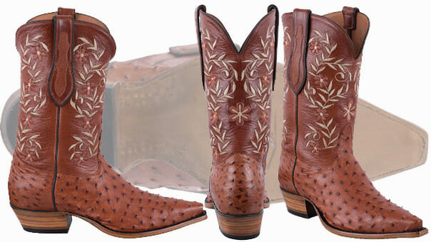 Womens Ostrich Cowboy Boots - Tony Lama Women's Full Quill Brand Ostrich boots