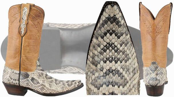 Eastern Diamondback Rattlesnake Boots - Black Jack Boots