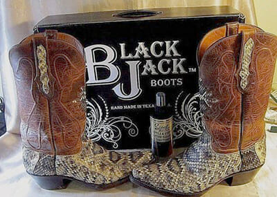 Eastern Diamondback Rattlesnake Boots - From Black Jack boots