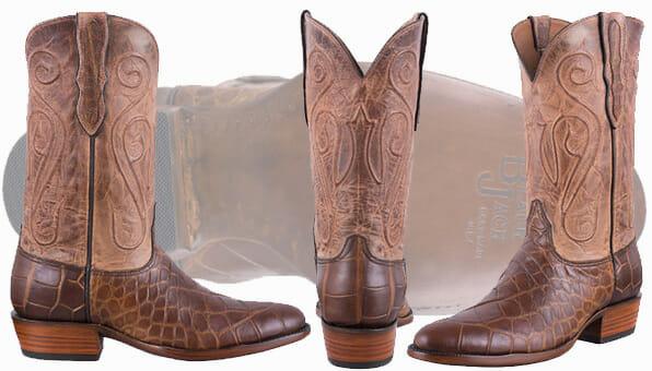Exotic Cowboy Boots - BLACK JACK AMERICAN ALLIGATOR BOOTS