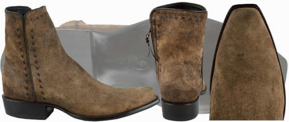 Mens Short Cowboy Boots - STALLION MENS ZORRO EURO VINTAGE LAMB ANKLE BOOT