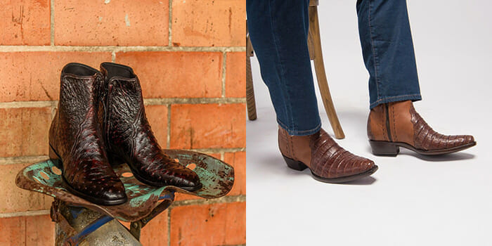 Mens Short Cowboy Boots - Two Pairs Of Short Boots