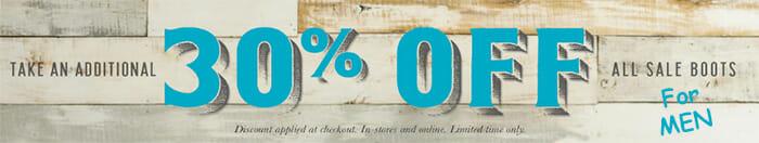 30 percent off men's handmade cowboy boots
