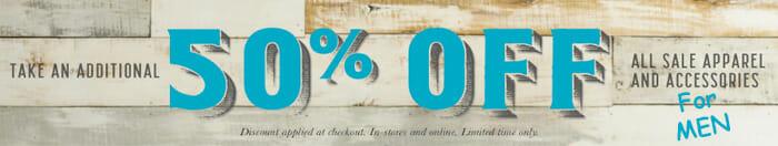 50 percent off men's western clothes and apparel