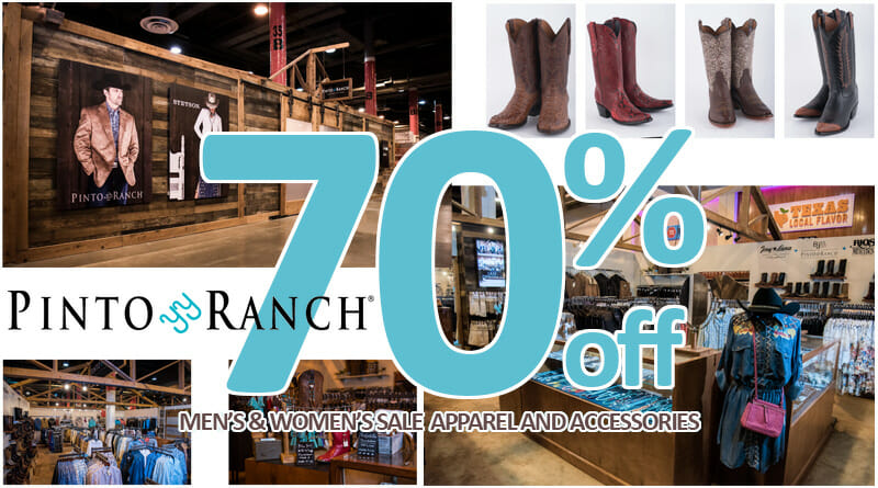 70% off Men's and Women's Sale Western Wear and Cowboy Boots Sale