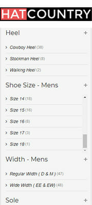 Hat Country Sizes for Mens Large Size Cowboy Boots