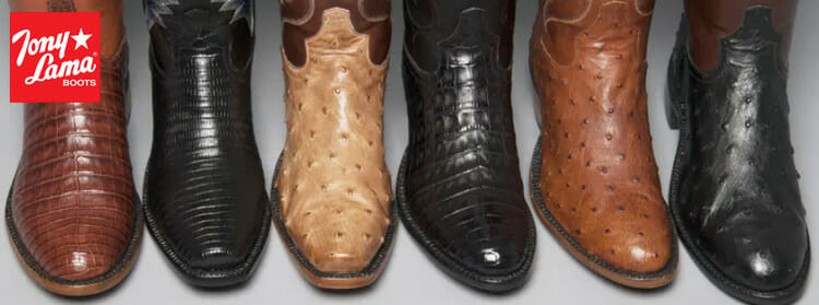 Tony Lama Men's Cowboy Boots Made In The USA