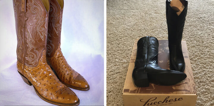 Womens Lucchese Full Quill Ostrich Boots