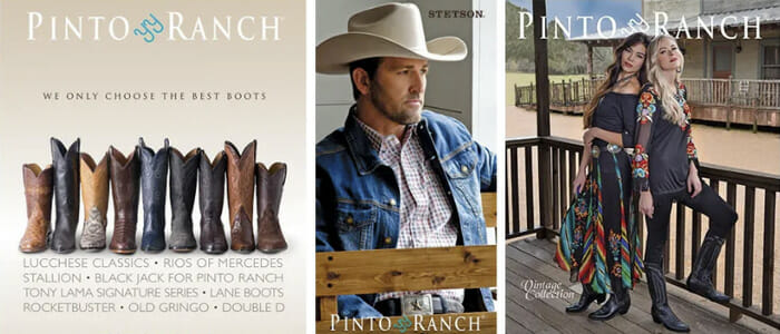 Pinto Ranch Western Wear and Cowboy Boots Banner