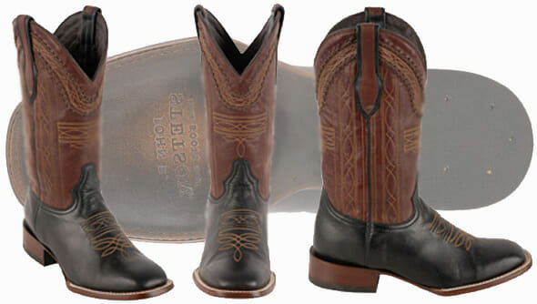 Stetson Mens Altan Black and Brown Goat Boots