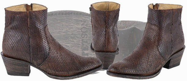 Stetson Womens Dani Distressed Brown Diamond Cut Booties