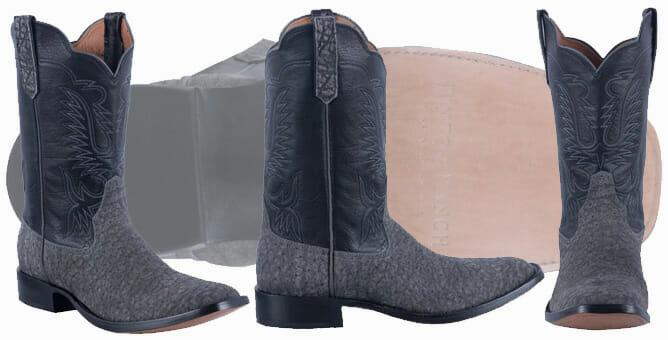 Rios of Mercedes Mens Granite Milan Elephant Cowboy Boots