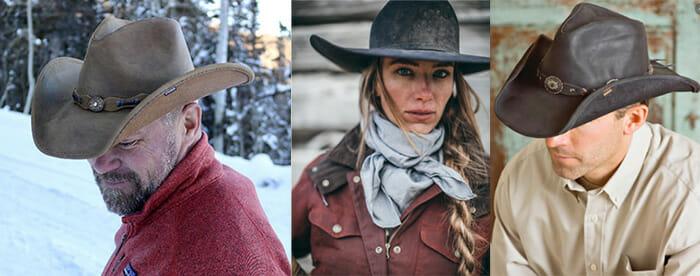 cheap leather cowboy hats